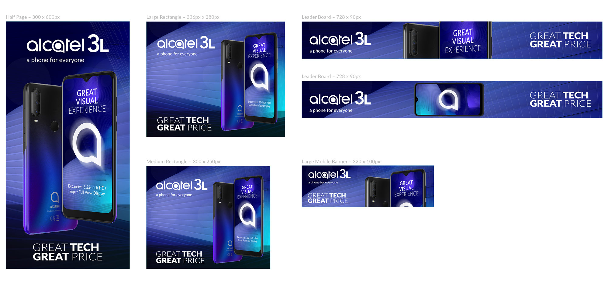 <strong>Alcatel 3L</strong> GDN Banners & Social Design